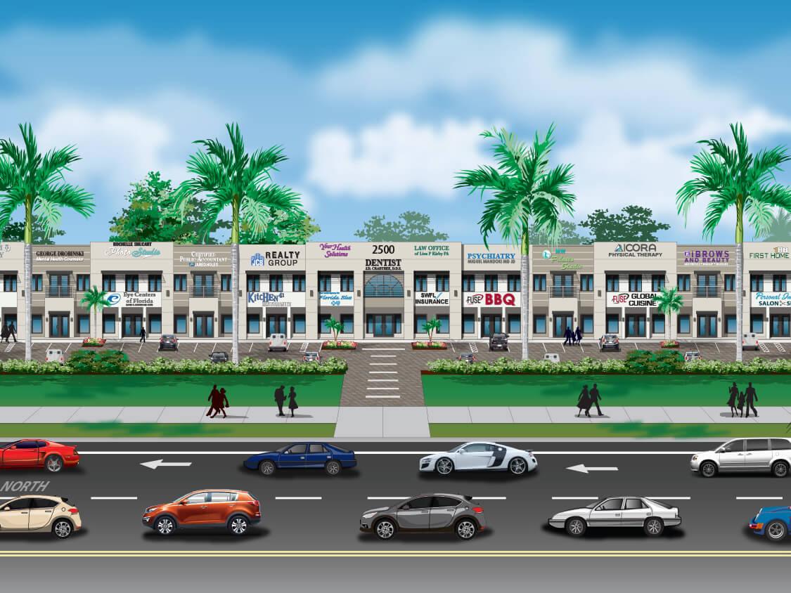 2500 Building (Plaza Walk) Rendering